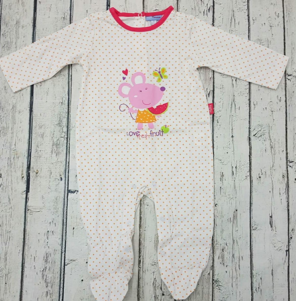 Pijama de bebé motas Naranja de Yatsi.