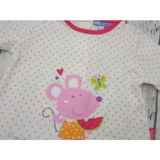 Pijama de bebé motas Naranja de Yatsi. [1]