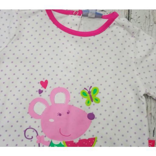 Pijama de bebé motas Lilas de Yatsi. [1]