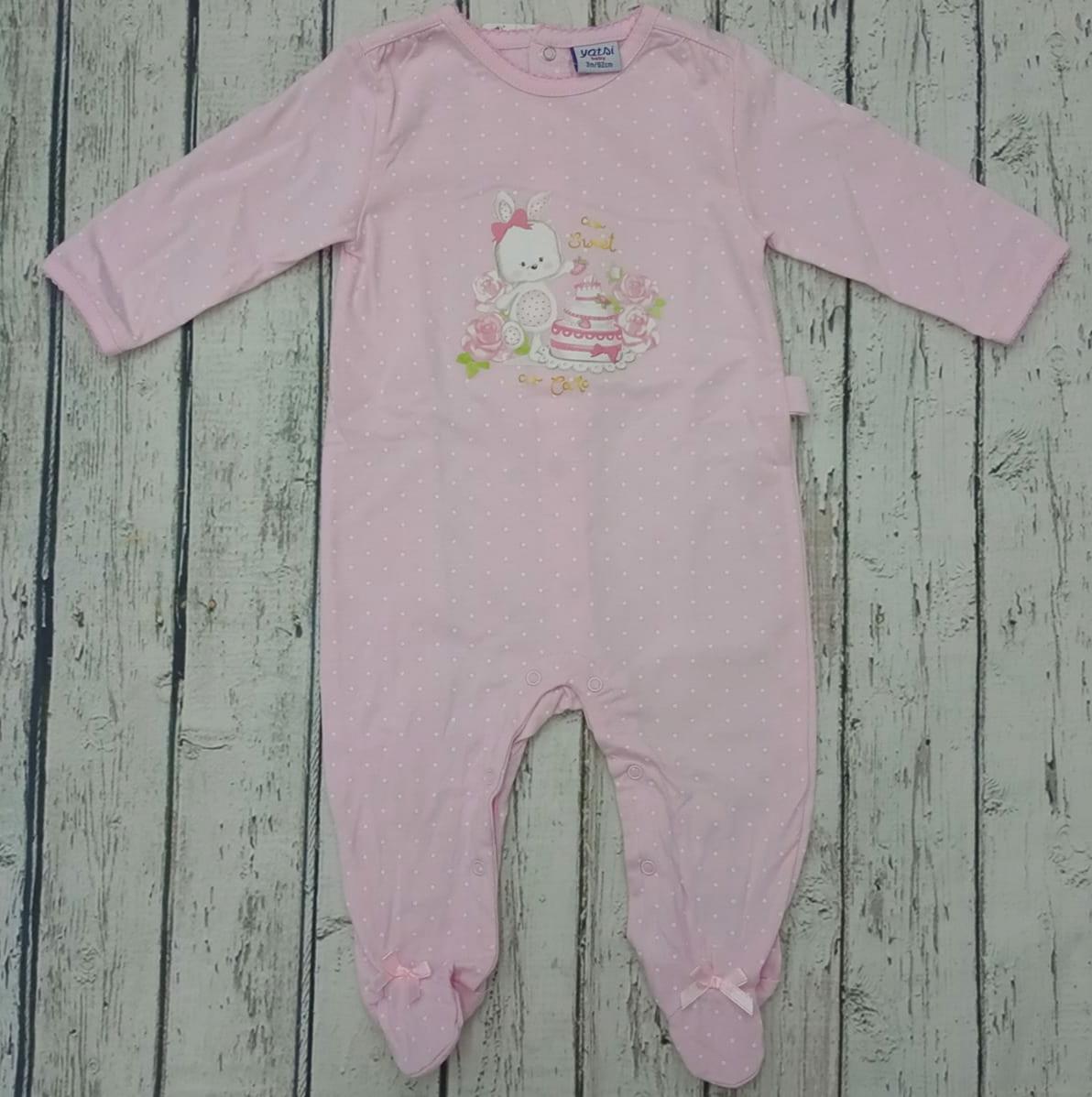 Pijama de bebé Rosa de Yatsi.