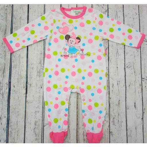 Pijama bebé lunares de Minnie de Yatsi.