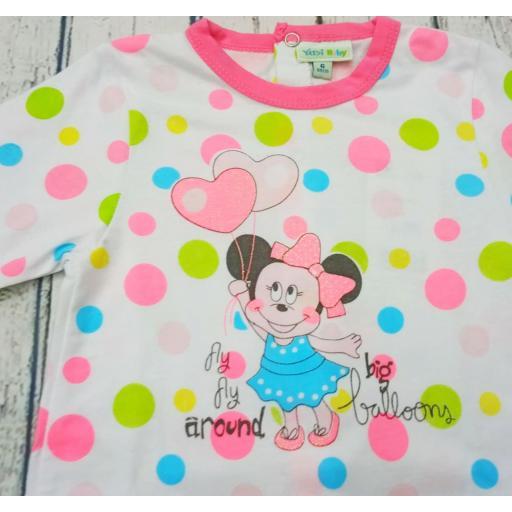 Pijama bebé lunares de Minnie de Yatsi. [1]