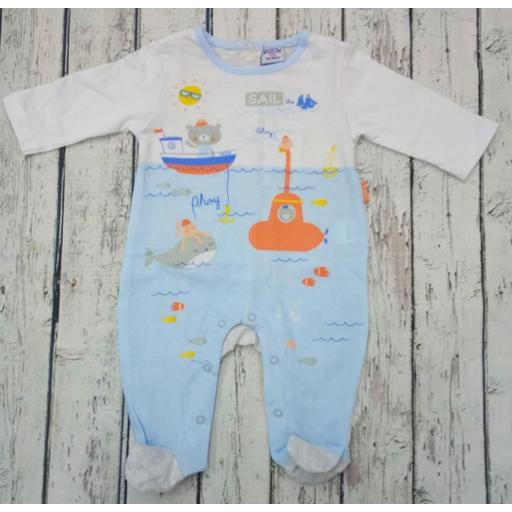Pijama bebé Azul Bajo el mar de Yatsi.