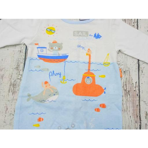 Pijama bebé Azul Bajo el mar de Yatsi. [1]