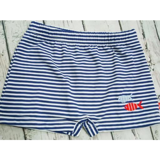 """Conjunto de niño de camiseta con bañador """"Pez"""" de Condor. [1]"""