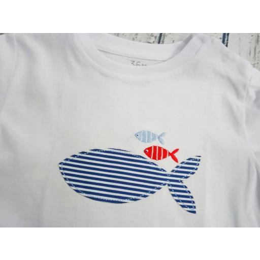"""Conjunto de niño de camiseta con bañador """"Pez"""" de Condor. [2]"""