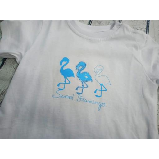 """Conjunto de niño de camiseta con bañador """" Flamingos """" de Condor. [1]"""