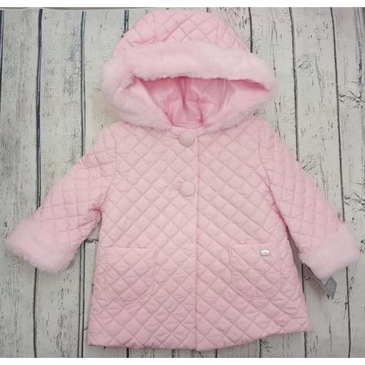 Abrigo de bebé en rosa de Yoedu.
