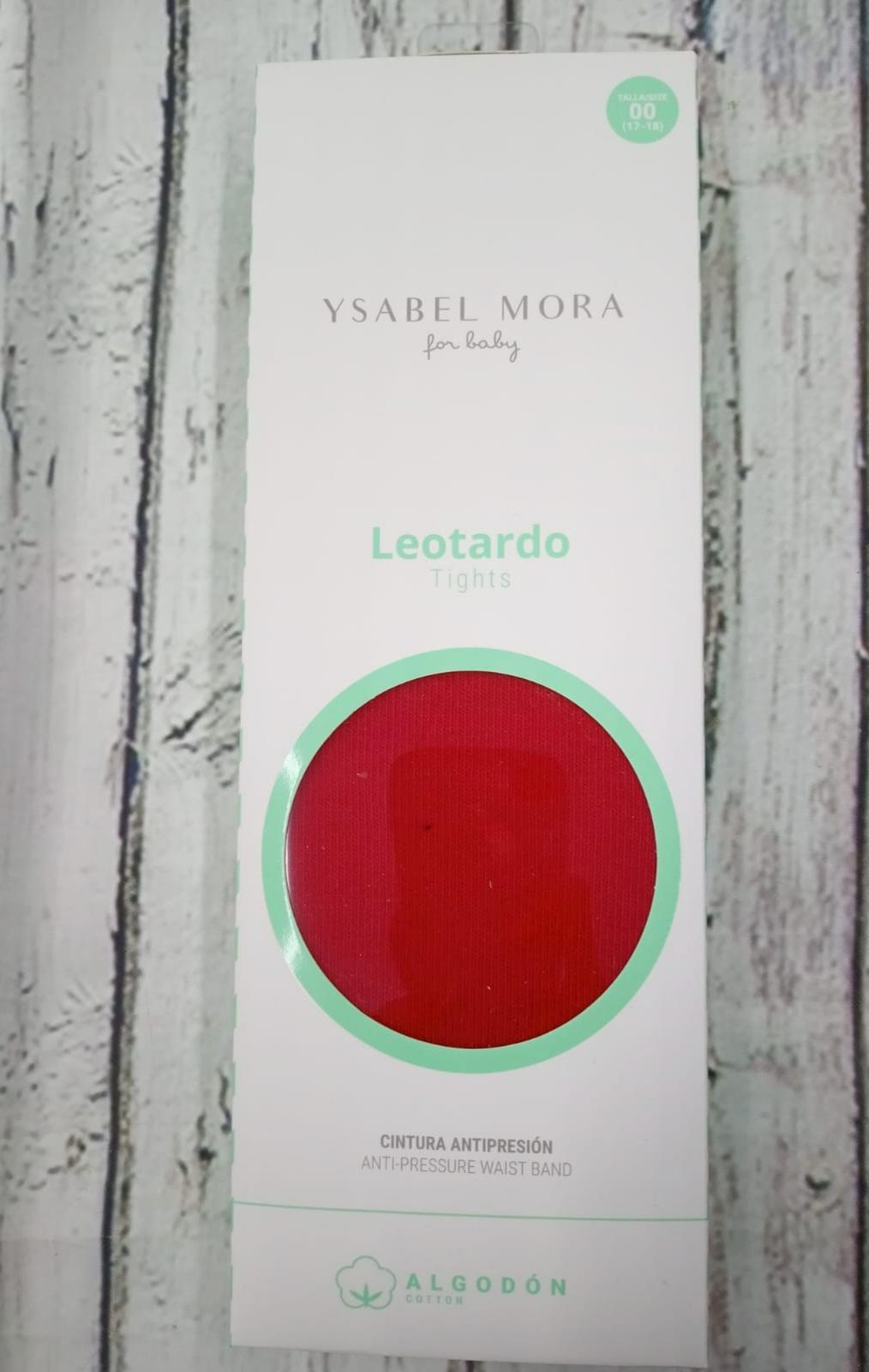 Leotardo bebé liso en  Rojo de algodón de Ysabel Mora.