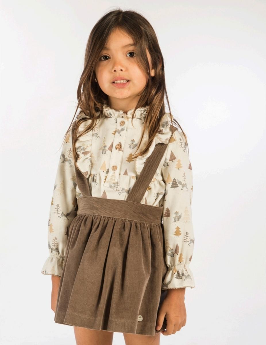 Pichi niña con camisa zorritos de Basmartí.