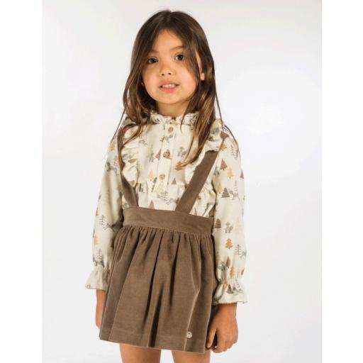 Pichi niña con camisa zorritos de Basmartí. [0]