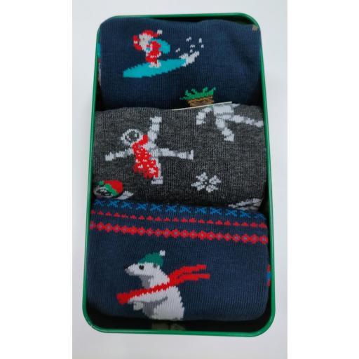 Caja musical  con 3 calcetines de Chico de Navidad. [2]