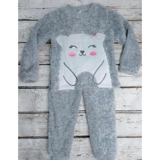 Pijama de niña gris Oso de Yatsi.