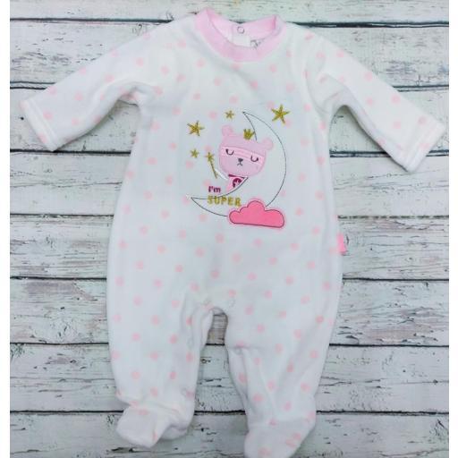 Pijama bebé niña Gatito con luna  de Yatsi.