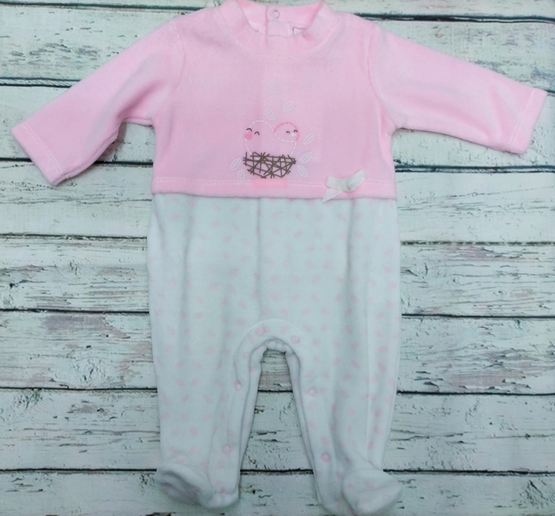Pijama bebé niña Pajarito de Klins.