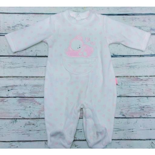 Pijama bebé niña Oso con estrellas de Yatsi.