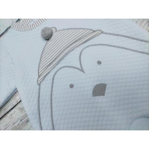 Pijama bebé azul con Pingüino de Deolinda. [1]