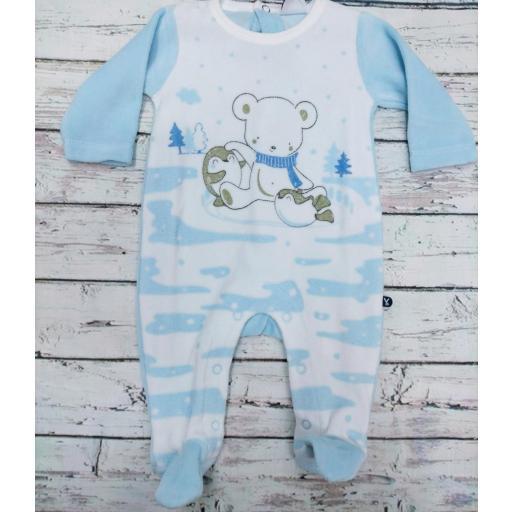Pijama bebé azul Osos de Yatsi.