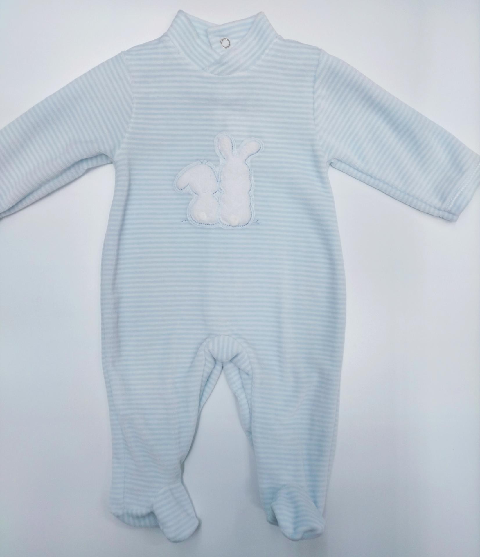 Pijama bebé rayas Conejo de Deolinda.