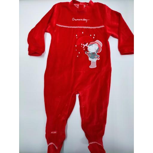 Pijama bebé niña rojo de Yatsi. [0]