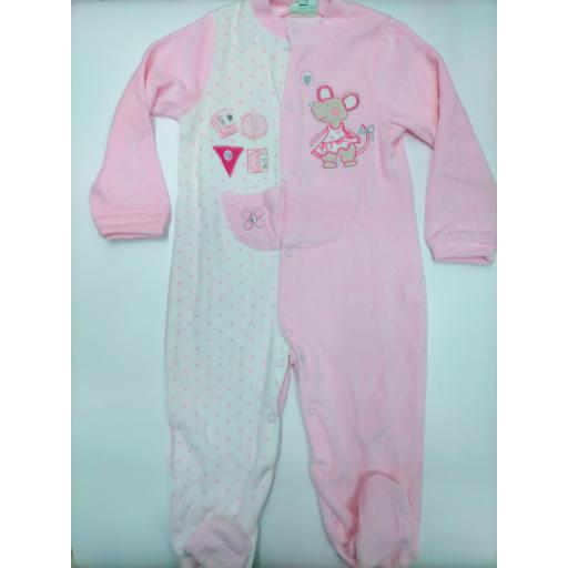 Pijama bebé niña abierto Ratita de Yatsi.