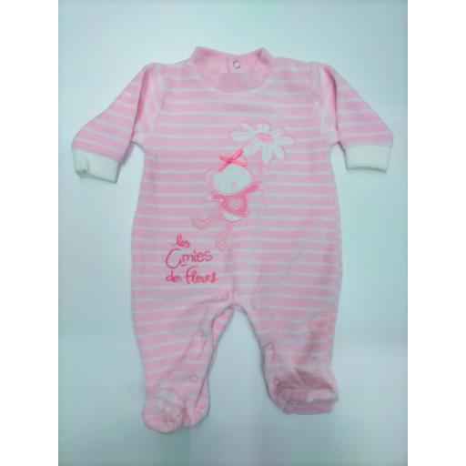 Pijama bebé niña Rosa de Yatsi.