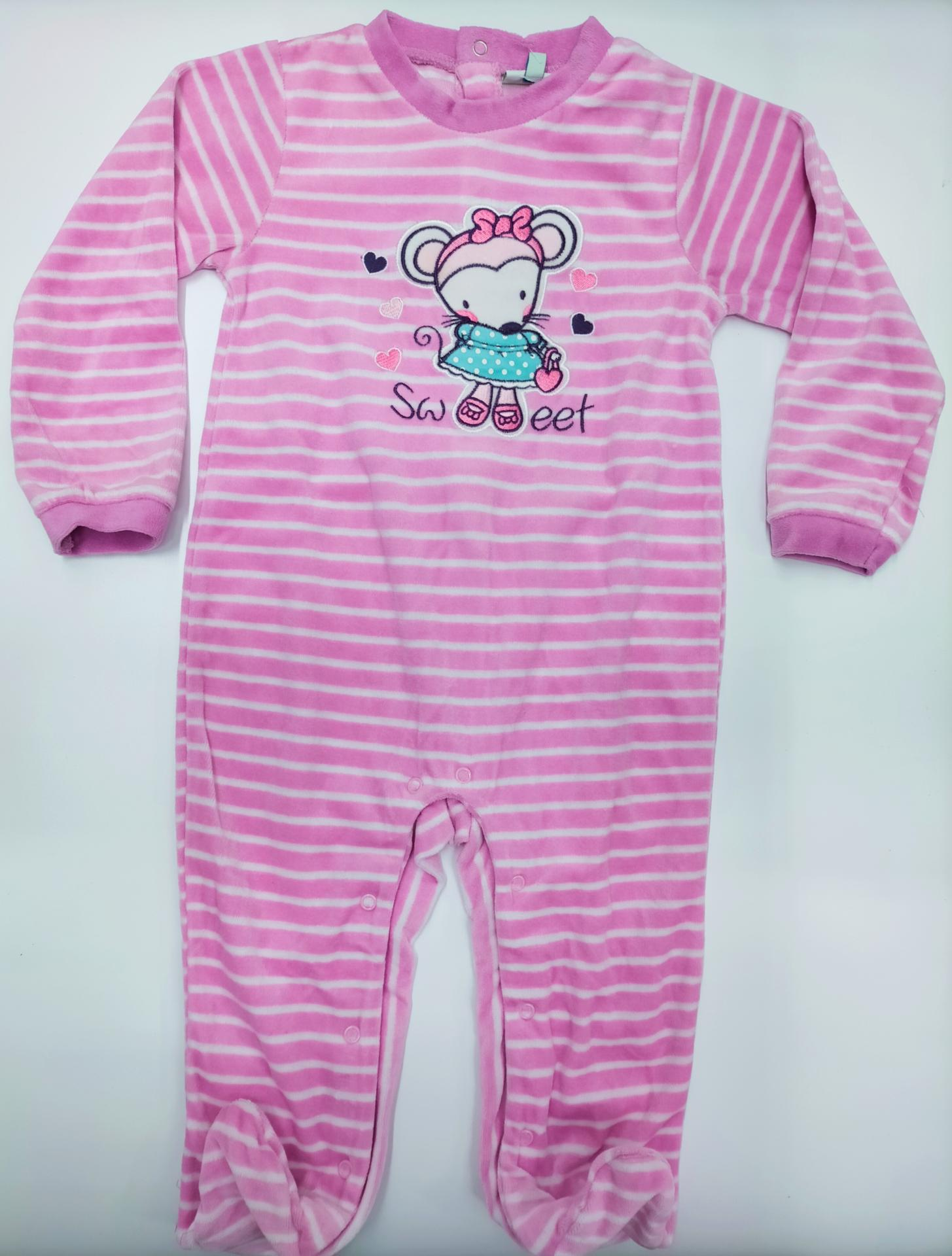 Pijama bebé  rosa Ratita Sweet  de Yatsi.