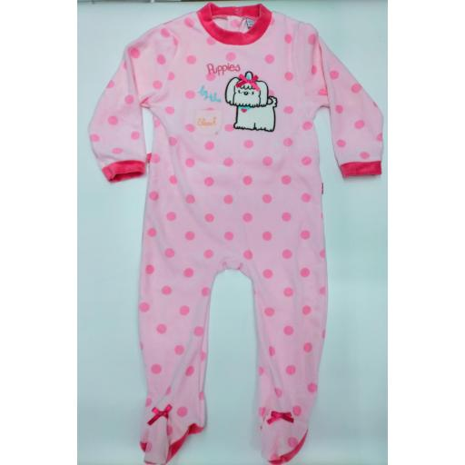 Pijama bebé  rosa Puppies de Yatsi.