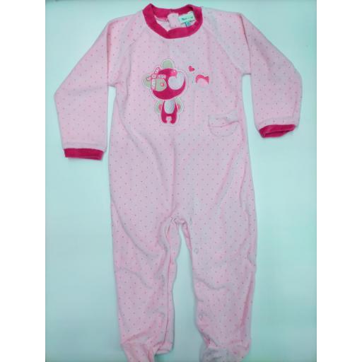 Pijama bebé  rosa Oso de Yatsi.