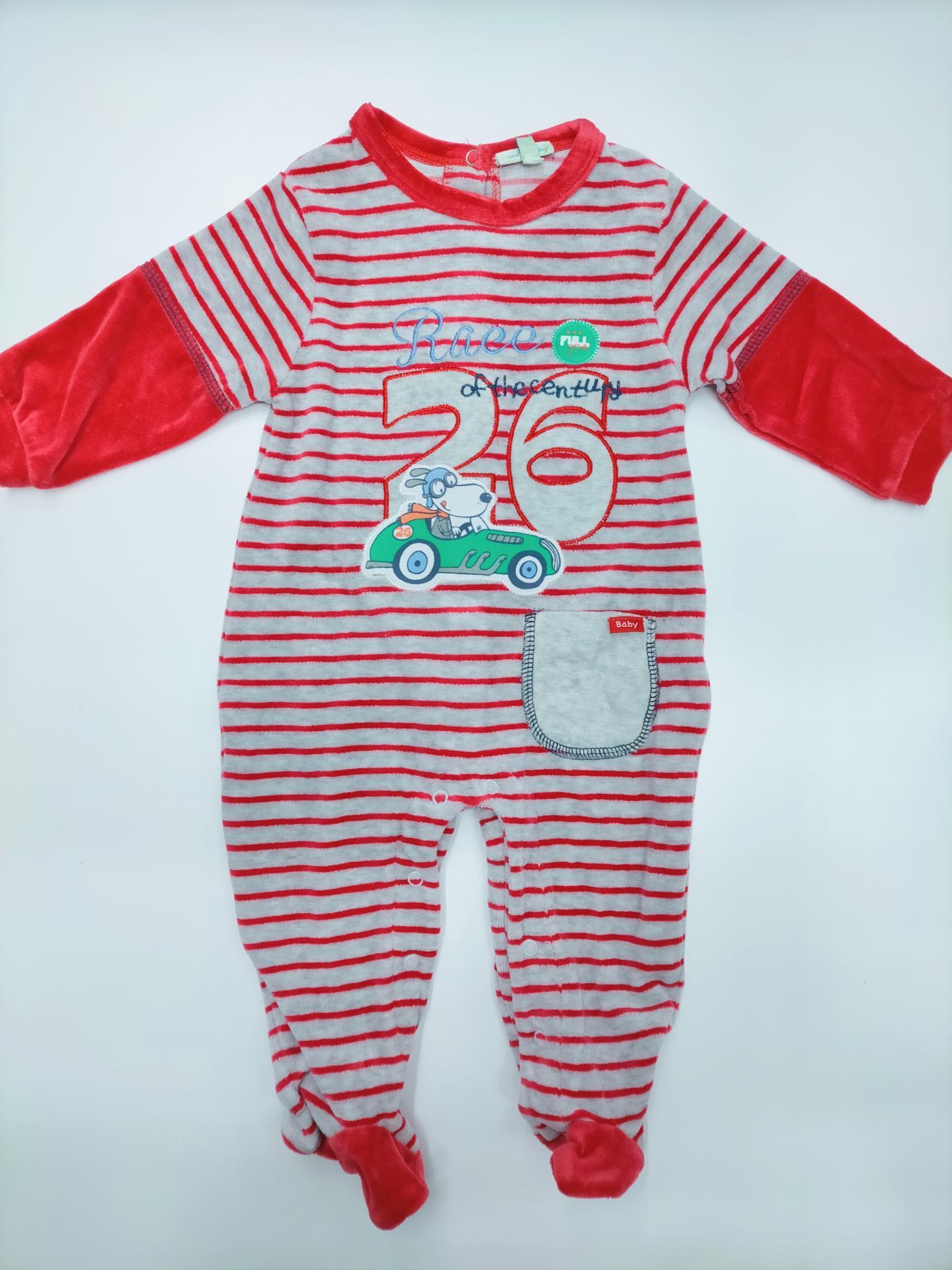 Pijama bebé rojo Rayas de Yatsi.