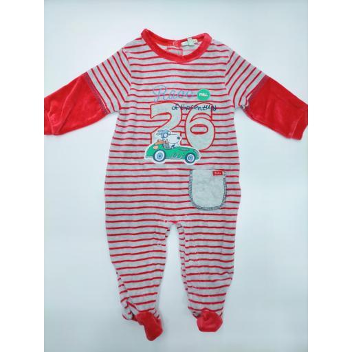 Pijama bebé rojo Rayas de Yatsi. [0]