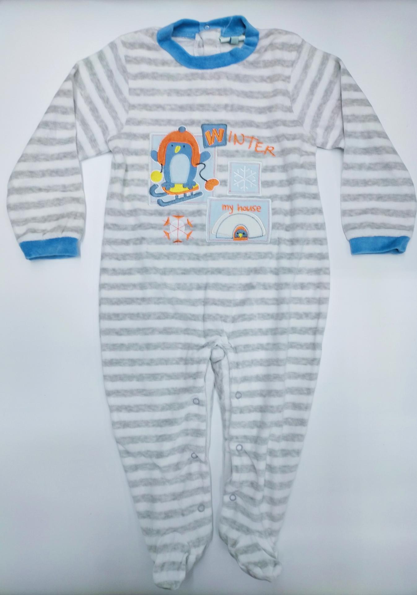 Pijama bebé  Rayas Pinguino de Yatsi.