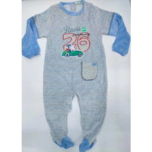 Pijama bebé azul Rayas de Yatsi.