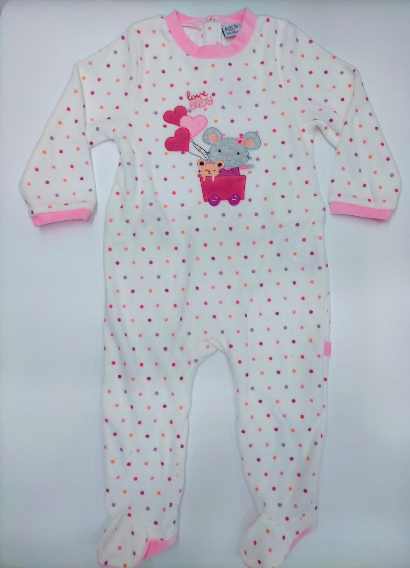 Pijama bebé  motas Ratita de Yatsi.