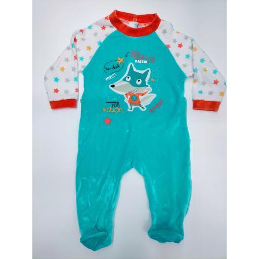 Pijama bebé turquesa Zorrito de Yatsi.