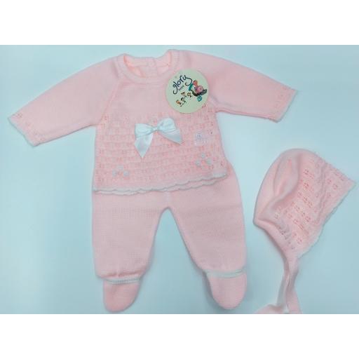 Jersey bebé con polaina en Rosa de Glory Bebé.