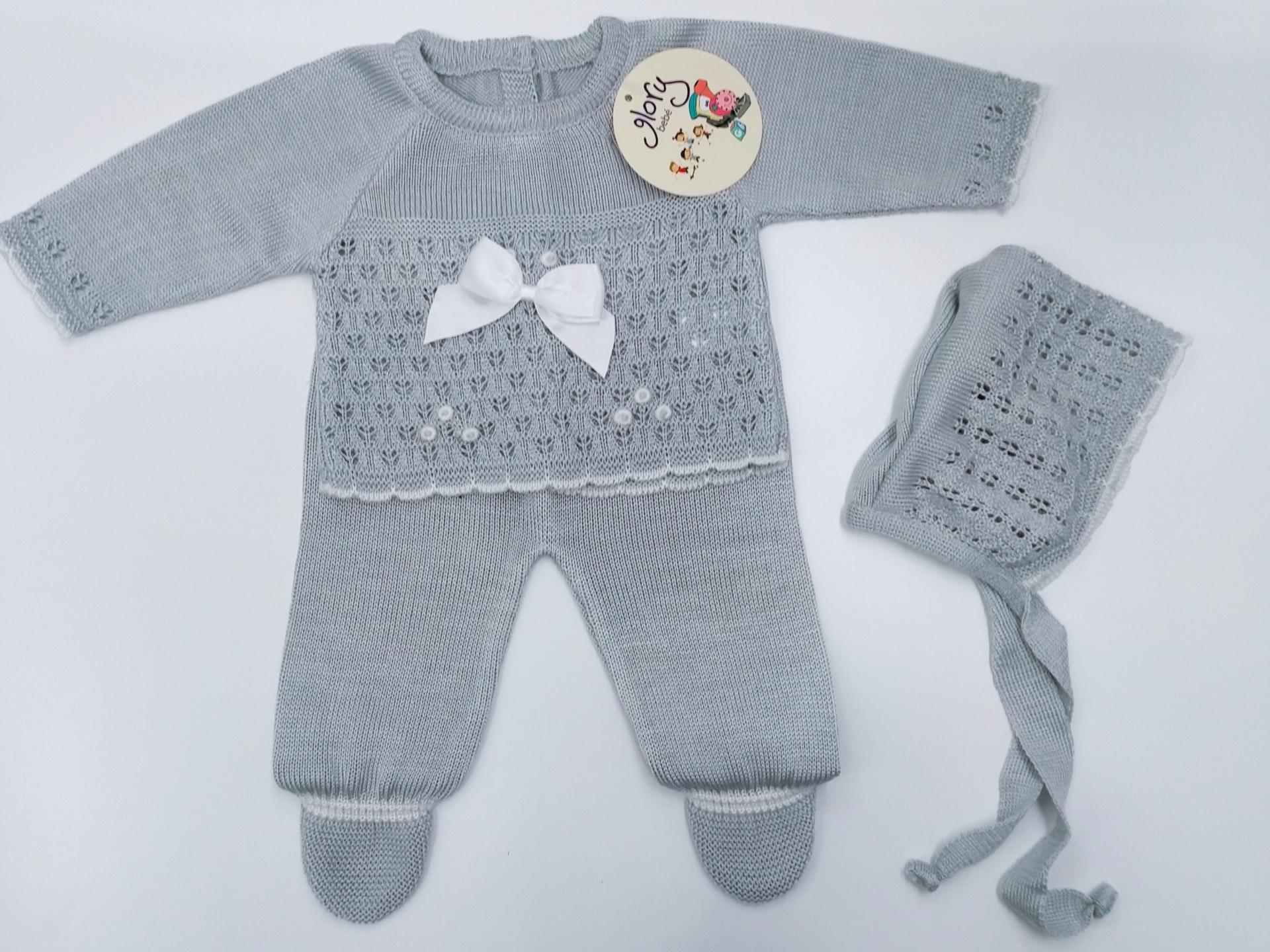 Jersey bebé con polaina en gris de Glory Bebé.