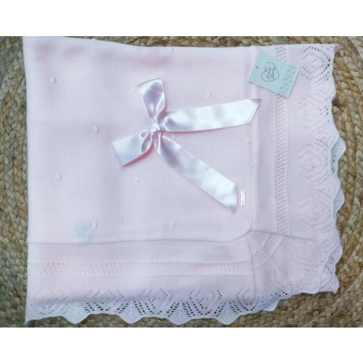 Toquilla bebé bodoques rosa de Prim Baby.