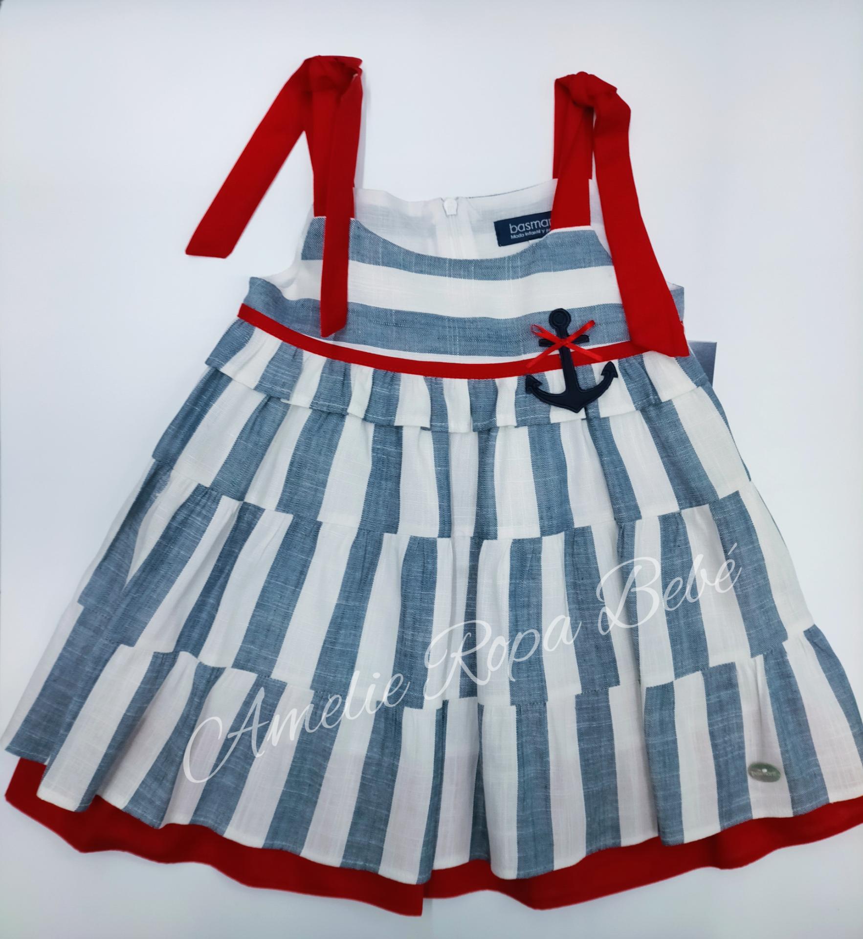 """Vestido niña """" Marinero"""" de Basmartí."""