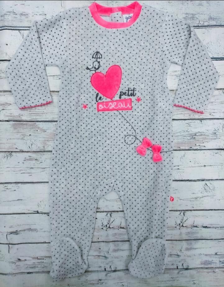 Pijama bebé niña Corazón de Yatsi.