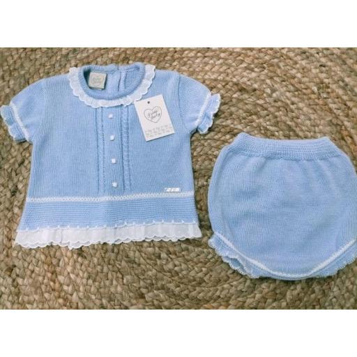 Jersey bebé manga corta  con ranita en Azul de Prim Baby.