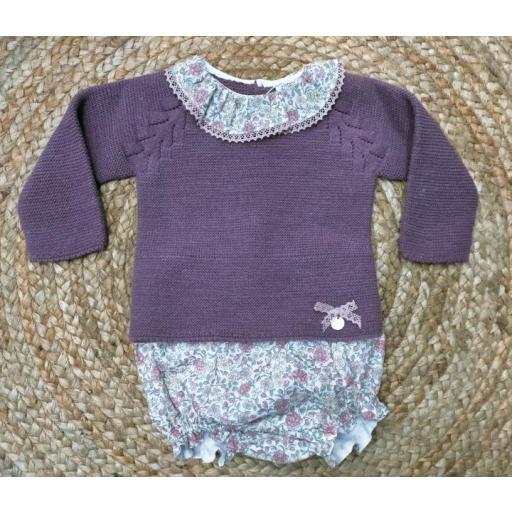 "Conjunto de bebé ranita "" Swett Violet "" Pangasa."