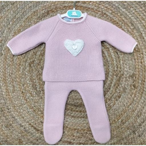 "Conjunto de bebé polaina rosa "" Sweet Heart"" Pangasa."