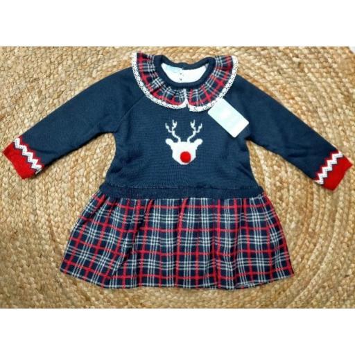 """Vestido de niña""""  Reno """" de Mac Ilusión."""