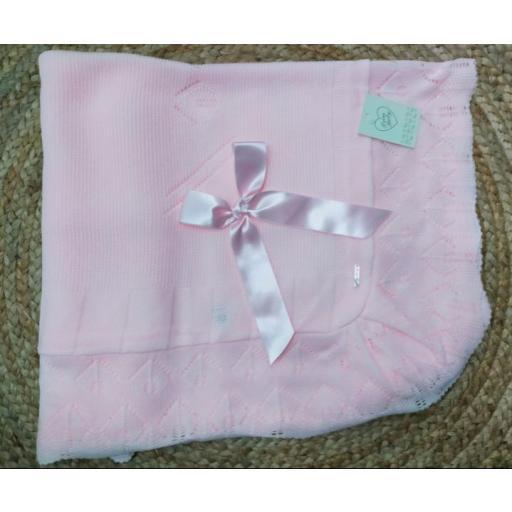 Toquilla de bebé en rosa de Prim Baby.