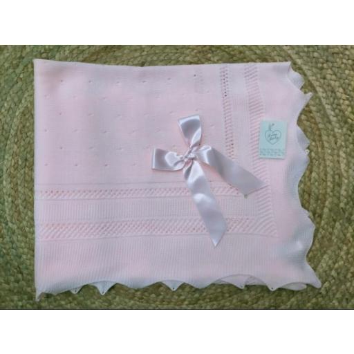 Toquilla bebé en rosa de Prim Baby.