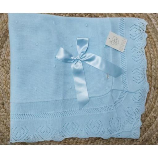Toquilla bebé bodoques azul de Prim Baby.