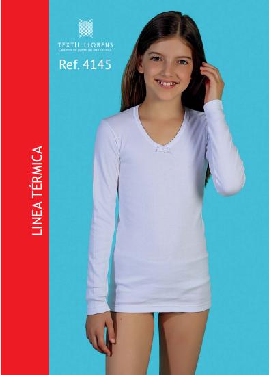 Camiseta  interior de niña manga larga Térmica.