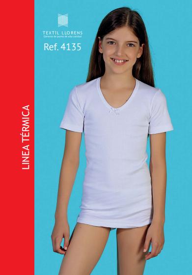 Camiseta  interior de niña manga corta Térmica.