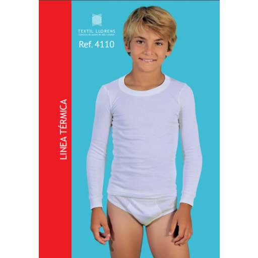 Camiseta  interior de niño manga larga Térmica.
